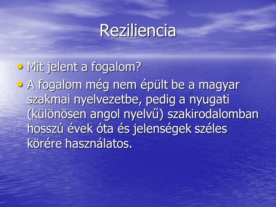 Reziliencia Mit jelent a fogalom