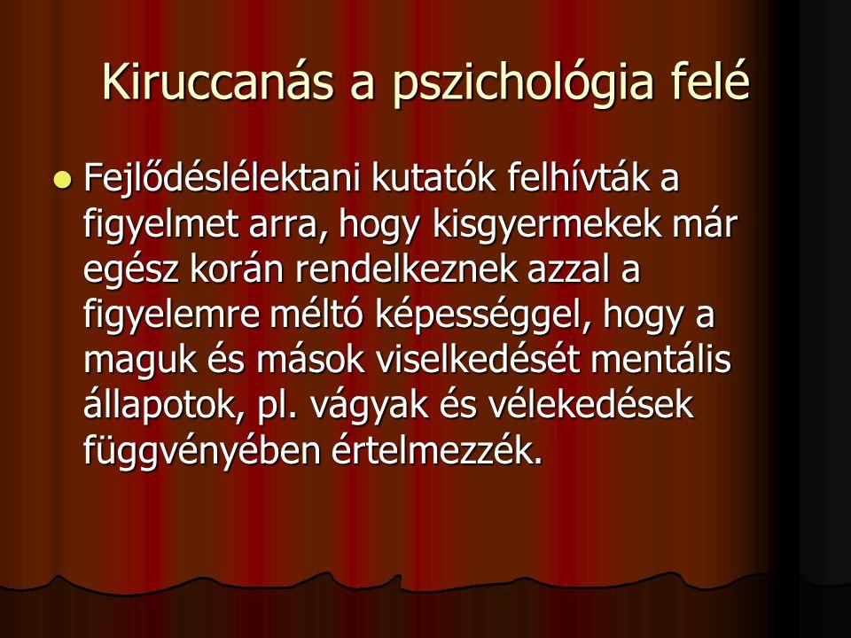 Kiruccanás a pszichológia felé