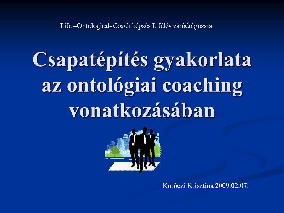 Csapatépítés gyakorlata az ontológiai coaching vonatkozásában