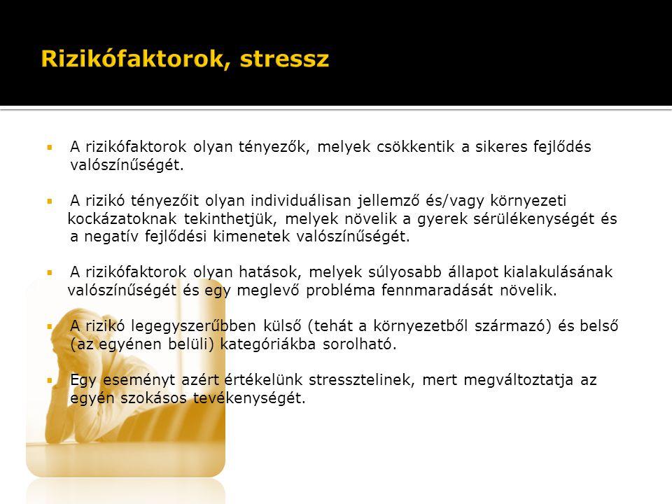Rizikófaktorok, stressz