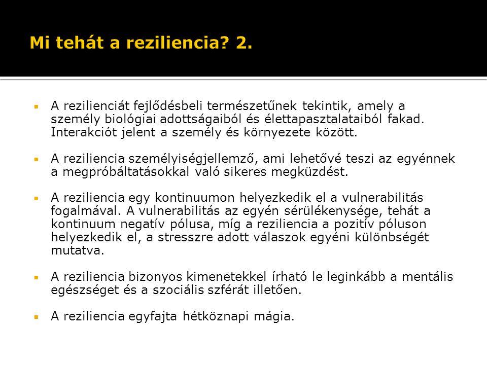 Mi tehát a reziliencia 2.