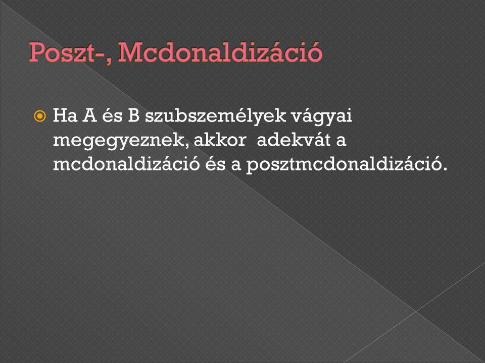 Poszt-, Mcdonaldizáció