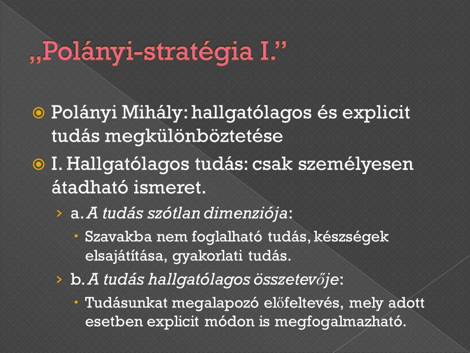 """""""Polányi-stratégia I."""