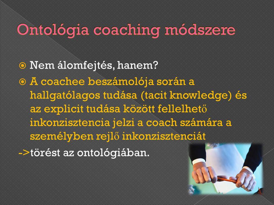 Ontológia coaching módszere