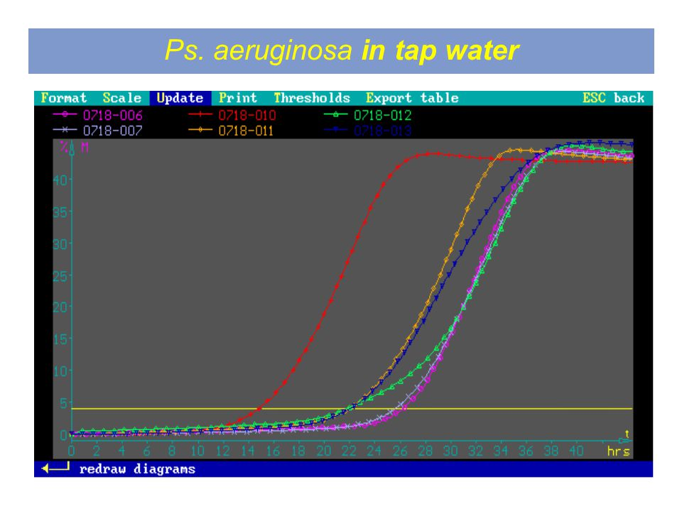 Ps. aeruginosa in tap water