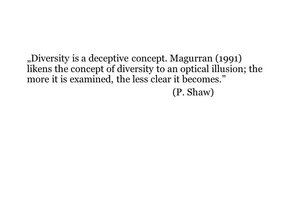 """""""Diversity is a deceptive concept"""