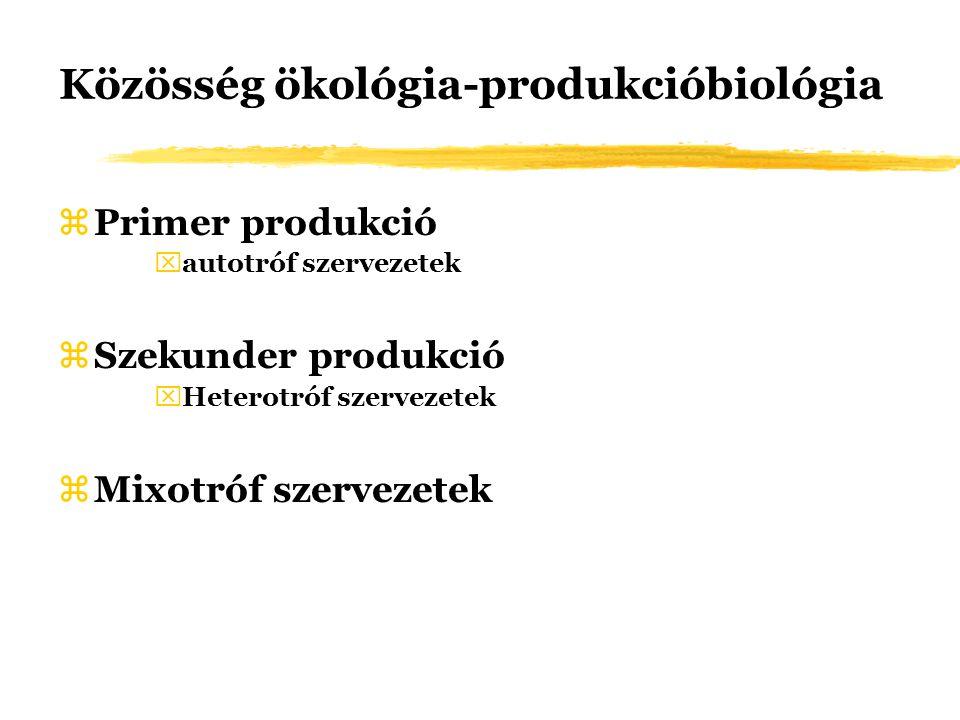 Közösség ökológia-produkcióbiológia