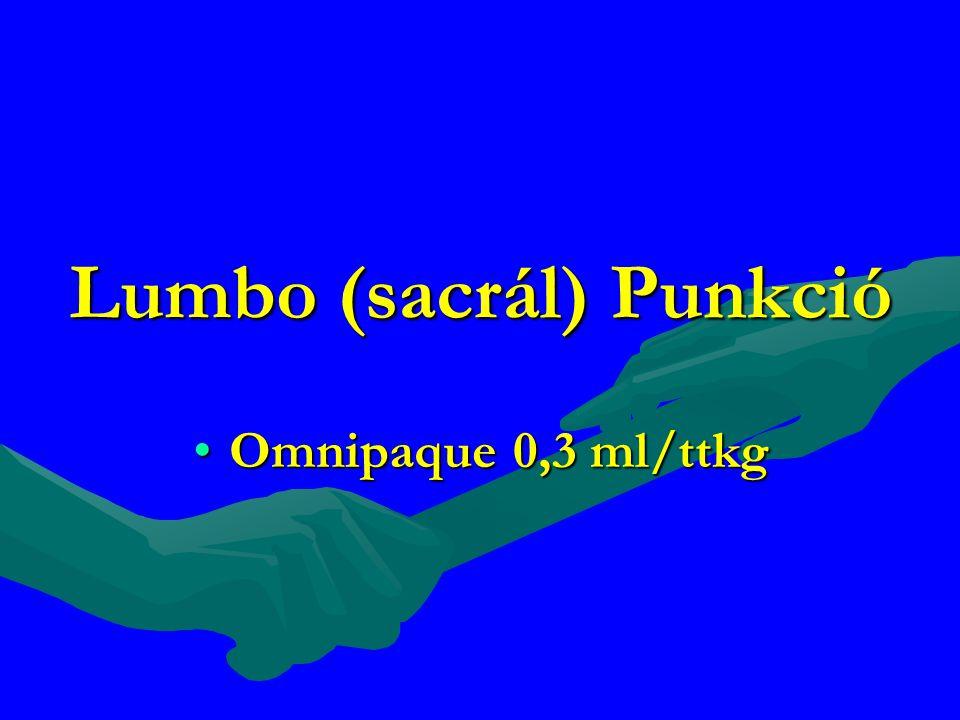 Lumbo (sacrál) Punkció