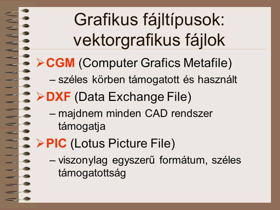 Grafikus fájltípusok: vektorgrafikus fájlok