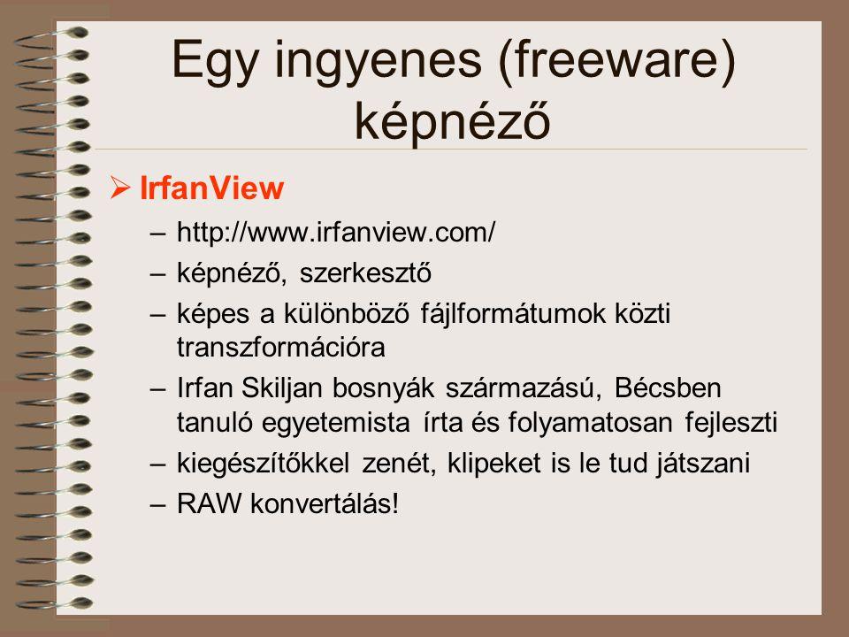 Egy ingyenes (freeware) képnéző