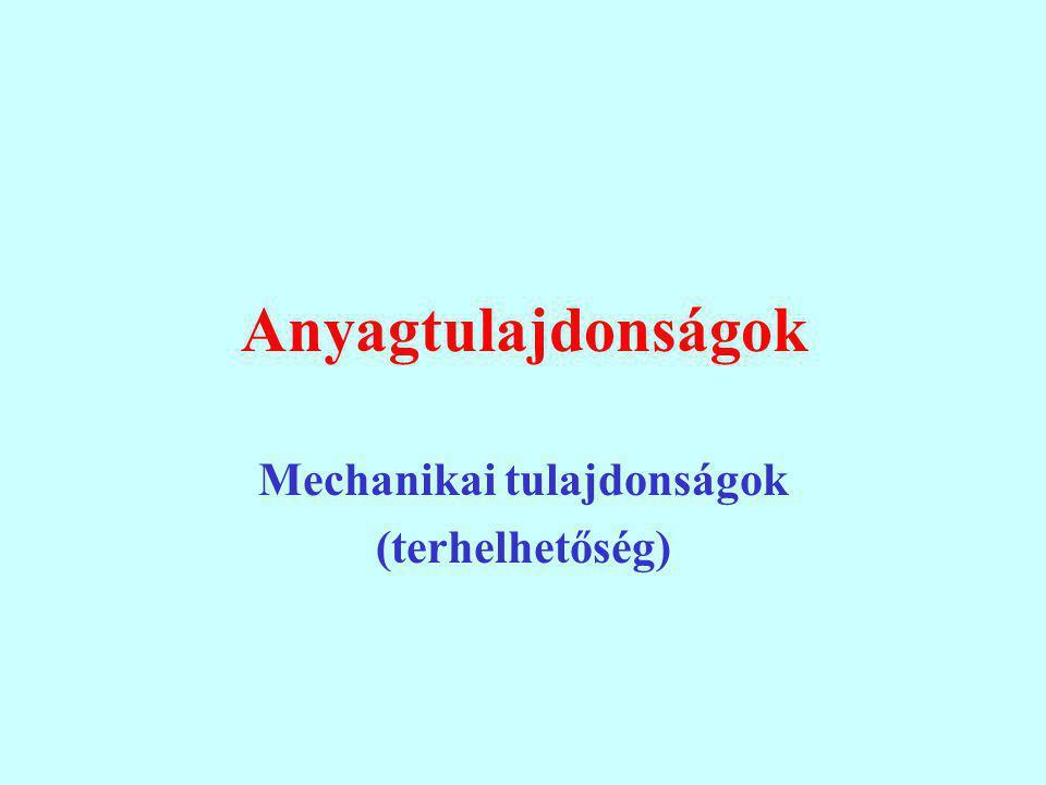 Mechanikai tulajdonságok (terhelhetőség)
