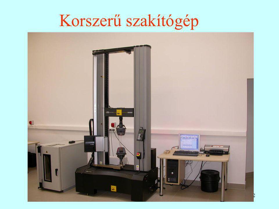 Korszerű szakítógép