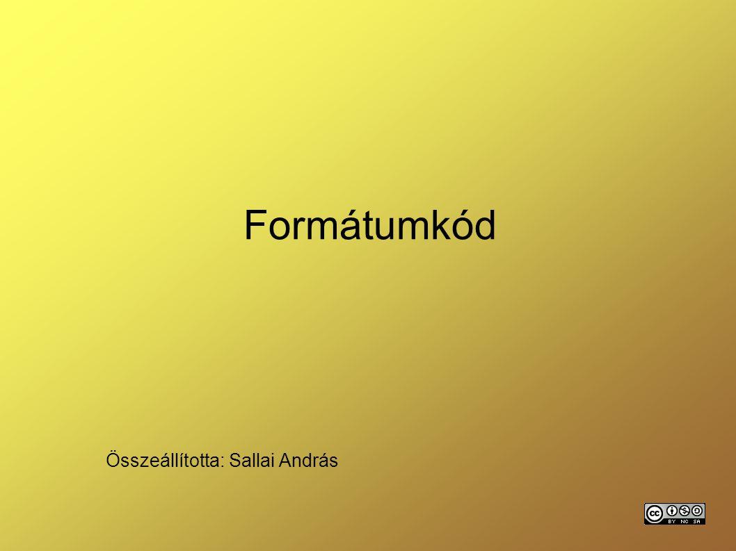 Összeállította: Sallai András