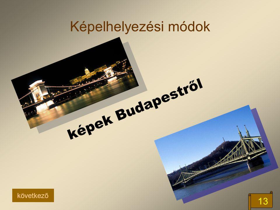 Képelhelyezési módok képek Budapestről következő