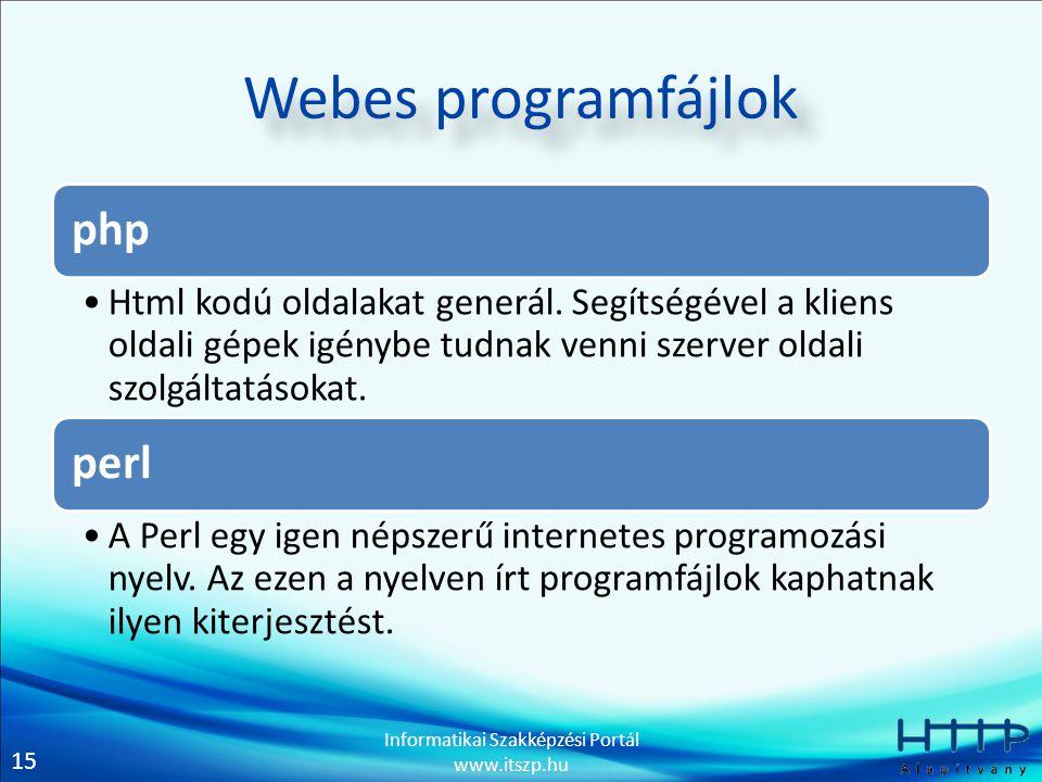 Webes programfájlok php perl