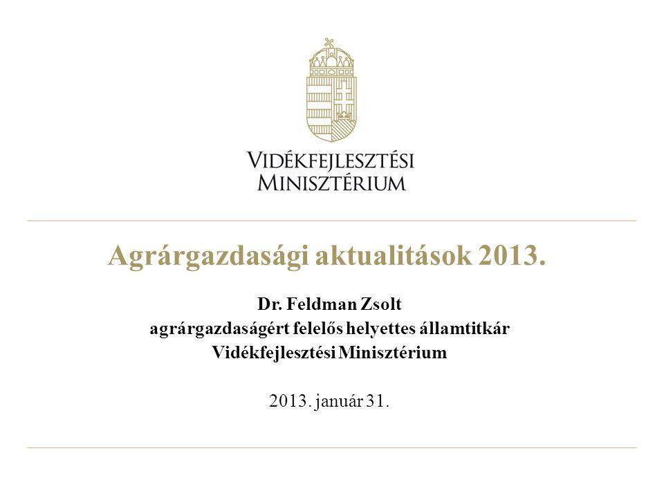 Agrárgazdasági aktualitások 2013.