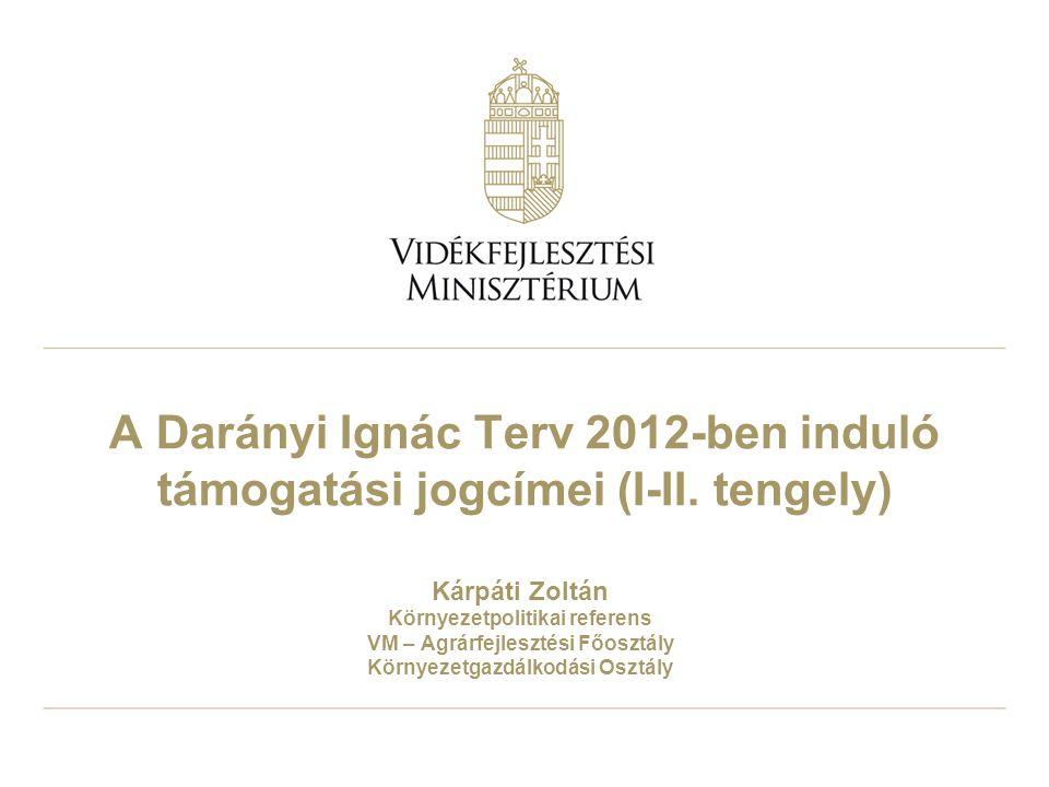 A Darányi Ignác Terv 2012-ben induló támogatási jogcímei (I-II
