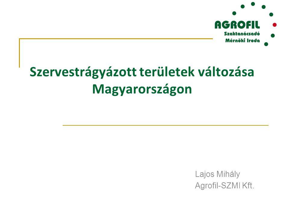Szervestrágyázott területek változása Magyarországon