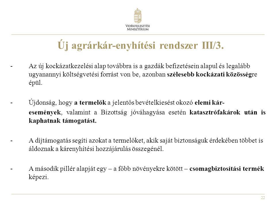 Új agrárkár-enyhítési rendszer III/3.