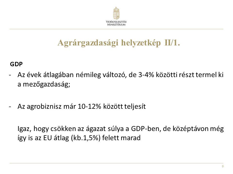 Agrárgazdasági helyzetkép II/1.