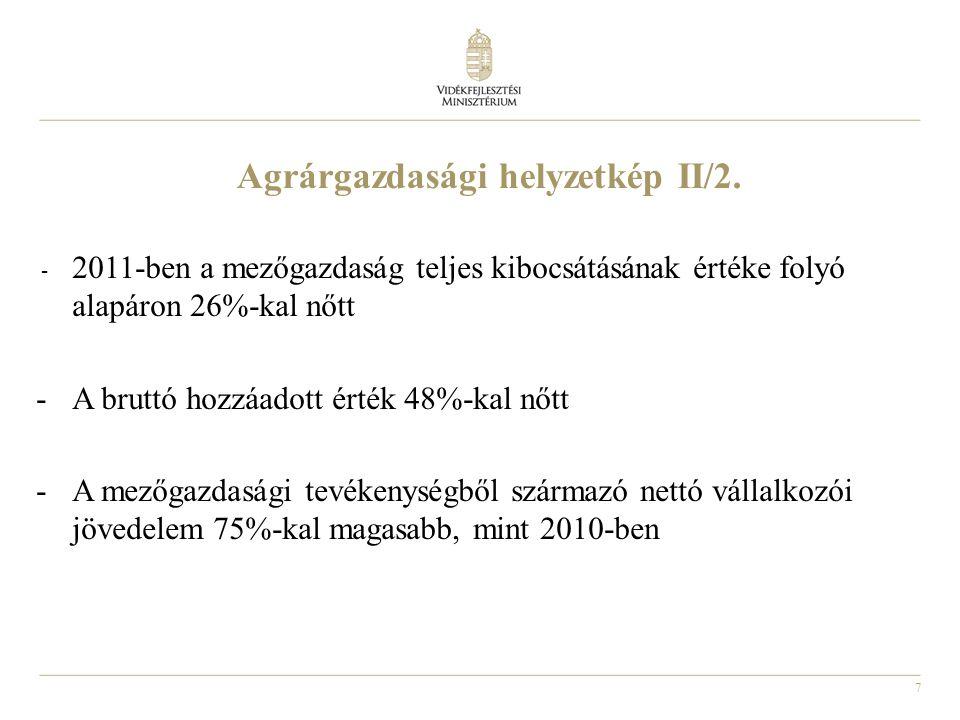 Agrárgazdasági helyzetkép II/2.