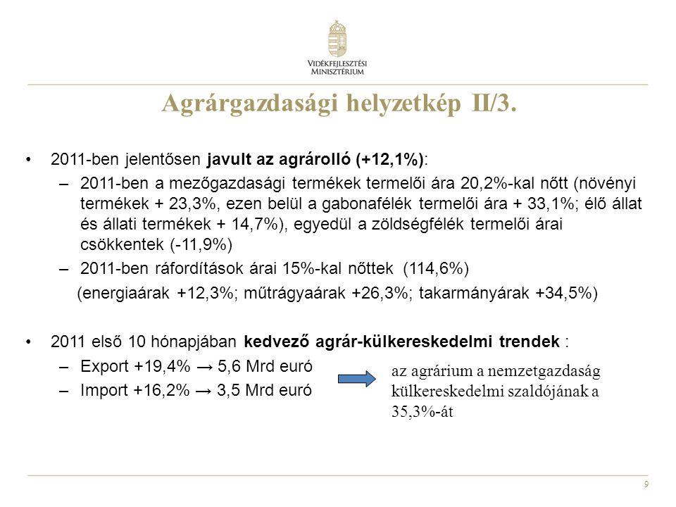Agrárgazdasági helyzetkép II/3.