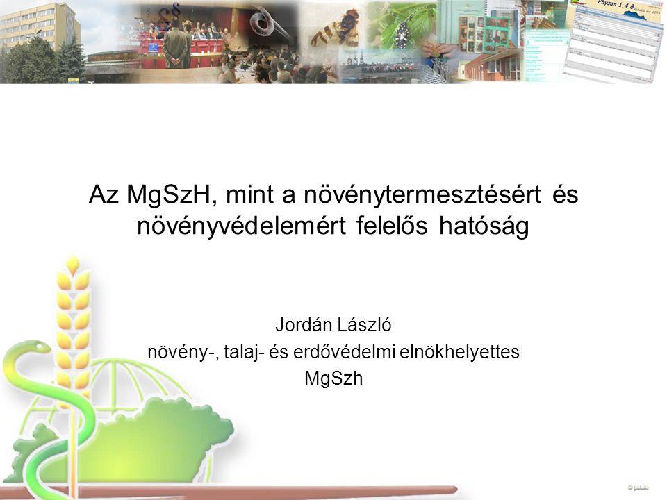 Jordán László növény-, talaj- és erdővédelmi elnökhelyettes MgSzh