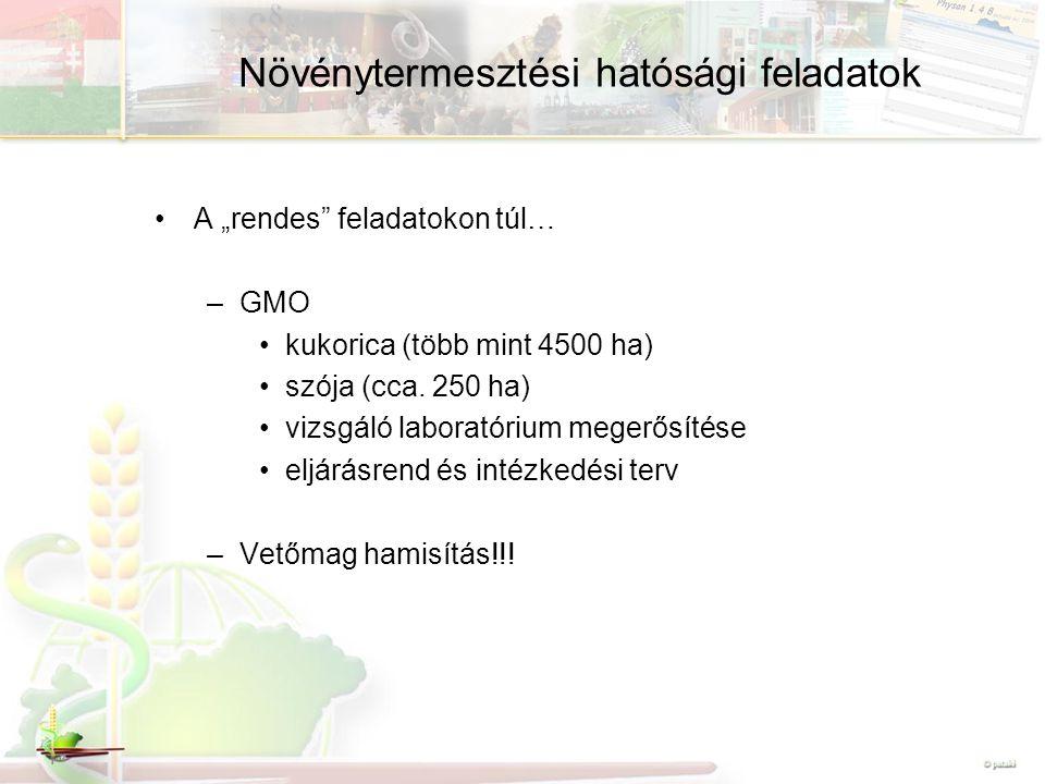 Növénytermesztési hatósági feladatok