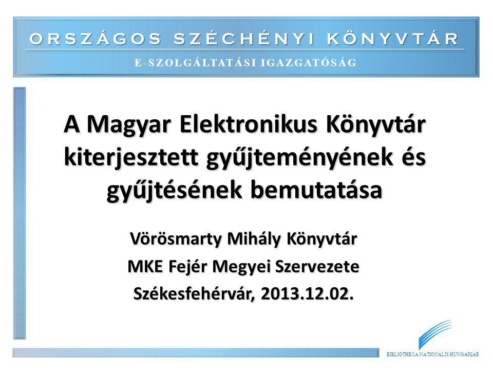 Vörösmarty Mihály Könyvtár MKE Fejér Megyei Szervezete