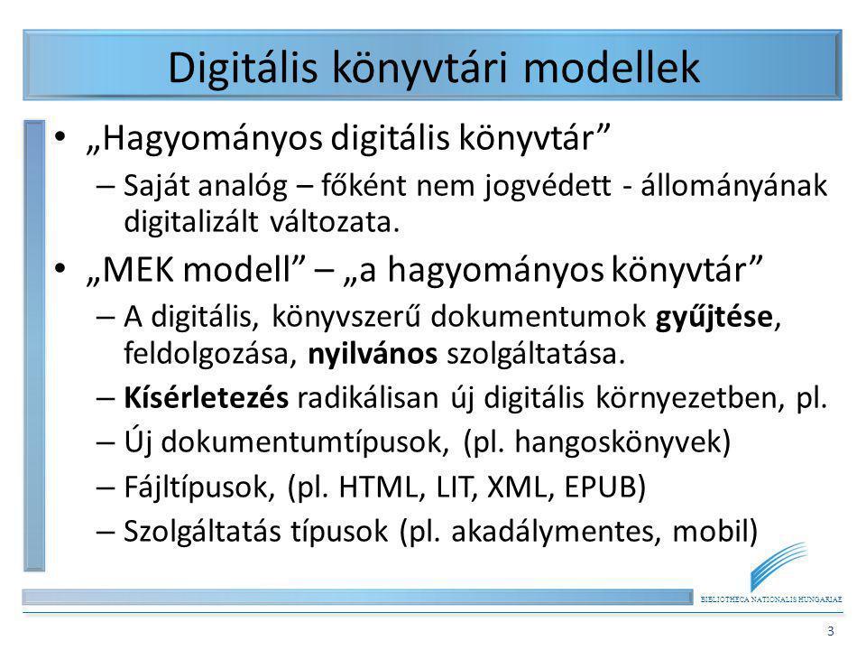 Digitális könyvtári modellek