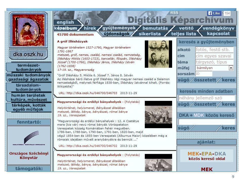 Bővítés – Digitális képek