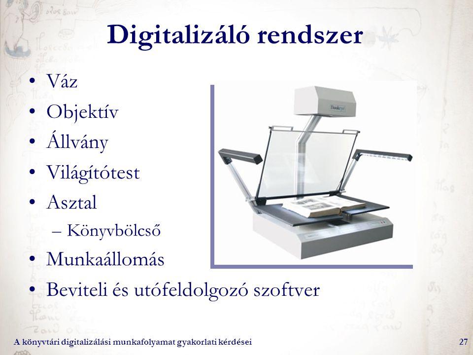 Digitalizáló rendszer