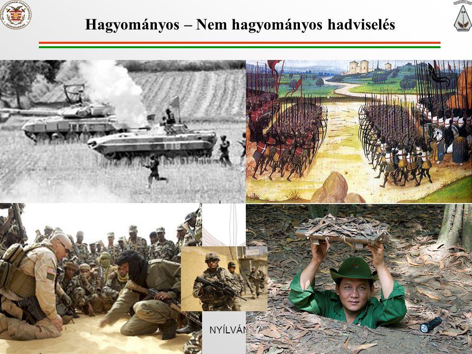 Hagyományos – Nem hagyományos hadviselés