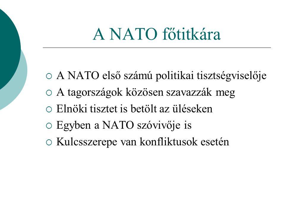 A NATO főtitkára A NATO első számú politikai tisztségviselője