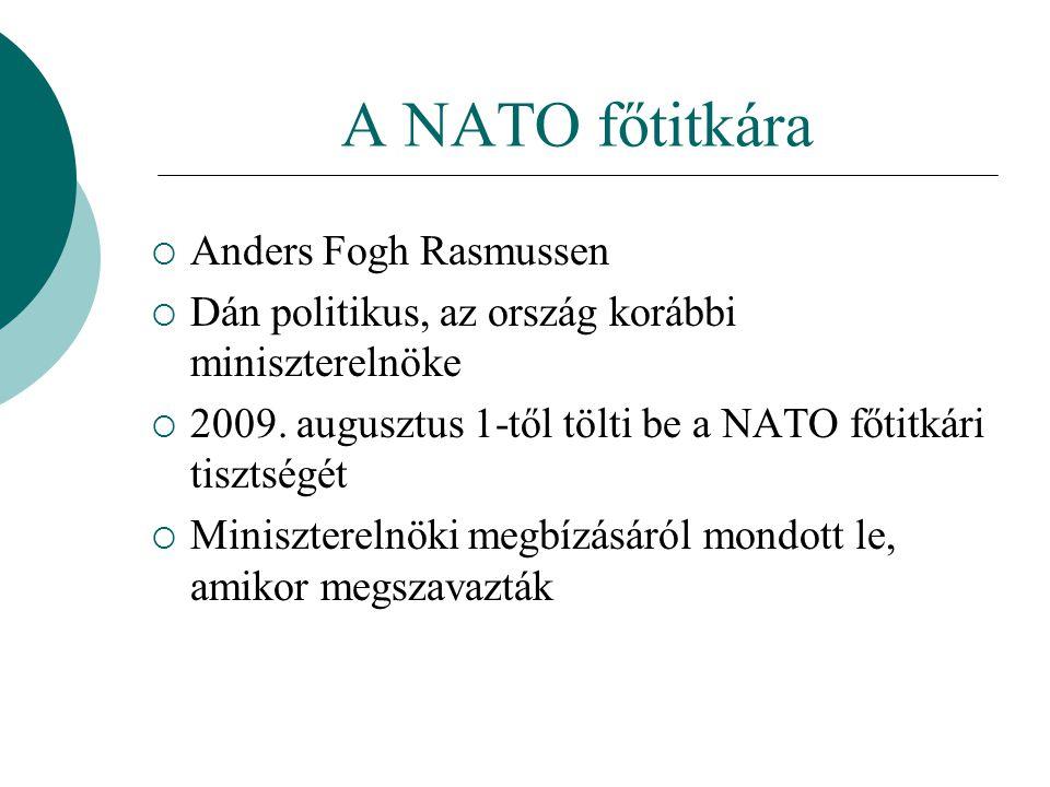 A NATO főtitkára Anders Fogh Rasmussen