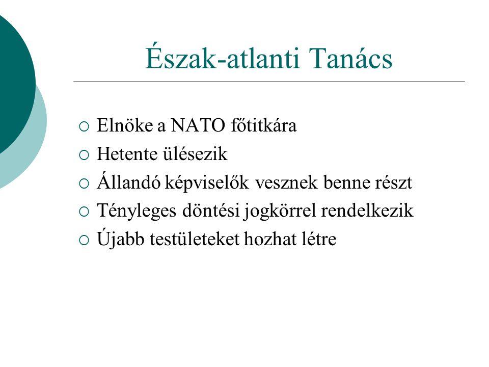 Észak-atlanti Tanács Elnöke a NATO főtitkára Hetente ülésezik