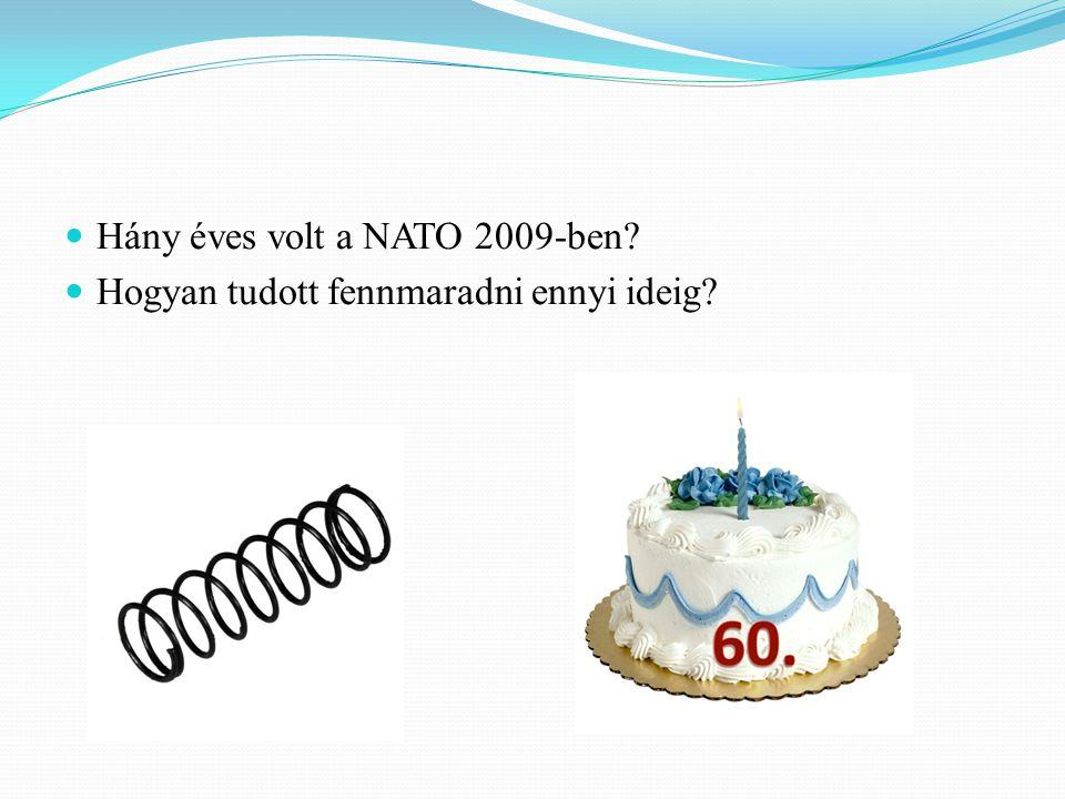 Hány éves volt a NATO 2009-ben