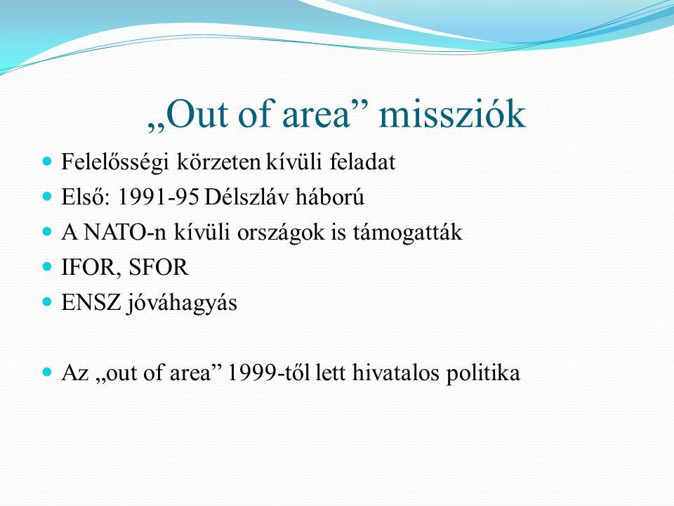 """""""Out of area missziók Felelősségi körzeten kívüli feladat"""