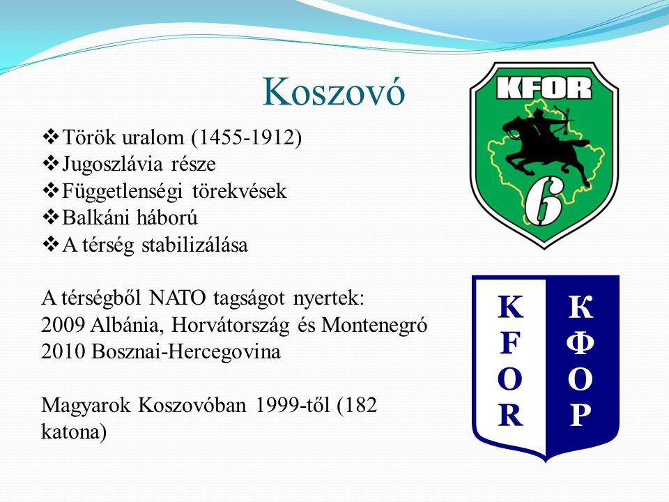 Koszovó Török uralom (1455-1912) Jugoszlávia része