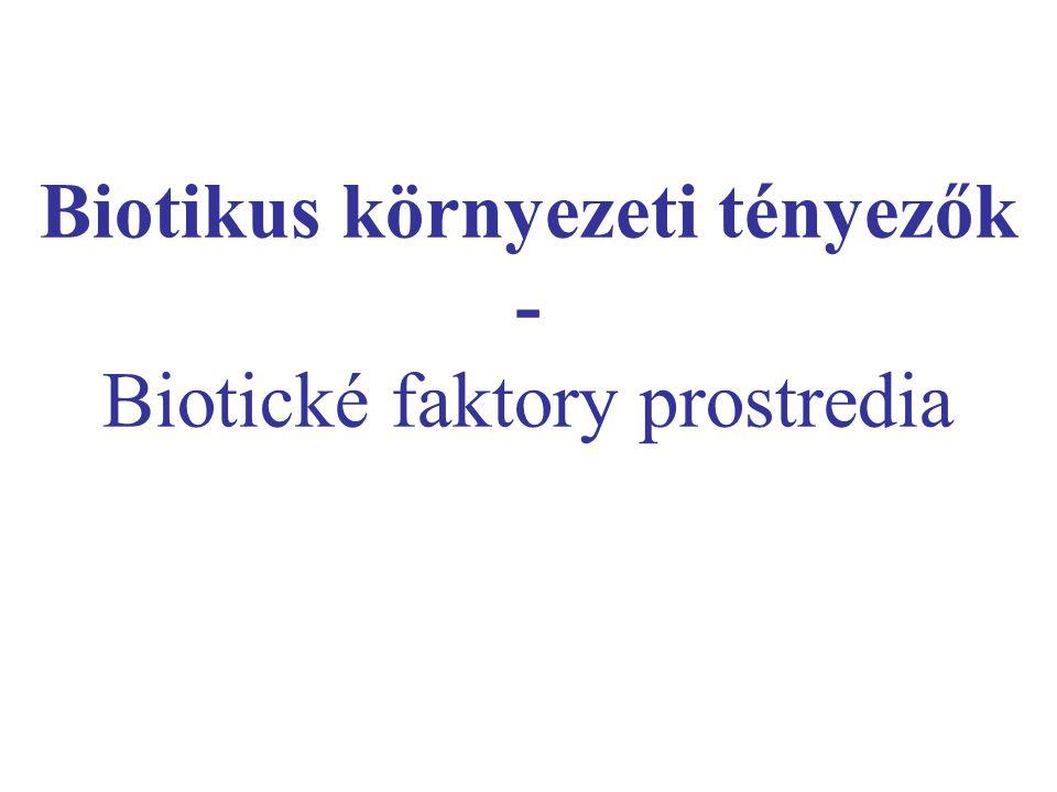 Biotikus környezeti tényezők