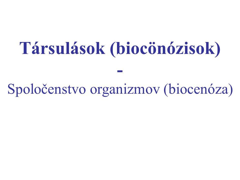 Társulások (biocönózisok)