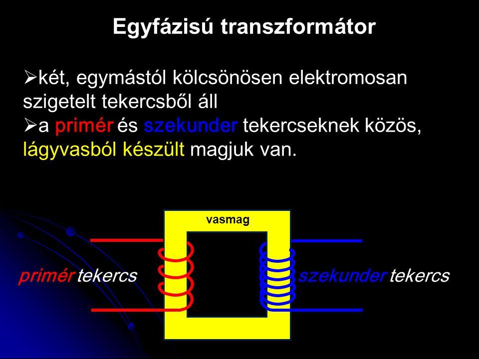 Egyfázisú transzformátor