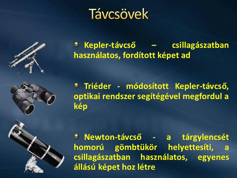 Távcsövek Kepler-távcső – csillagászatban használatos, fordított képet ad.