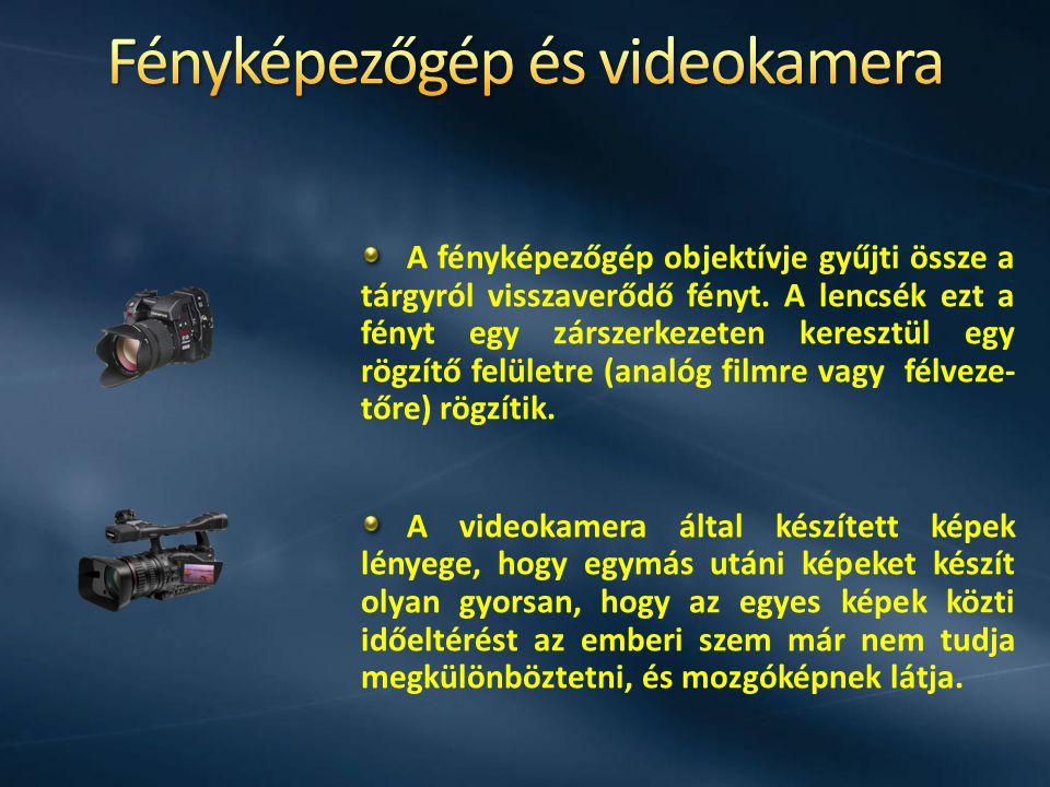 Fényképezőgép és videokamera