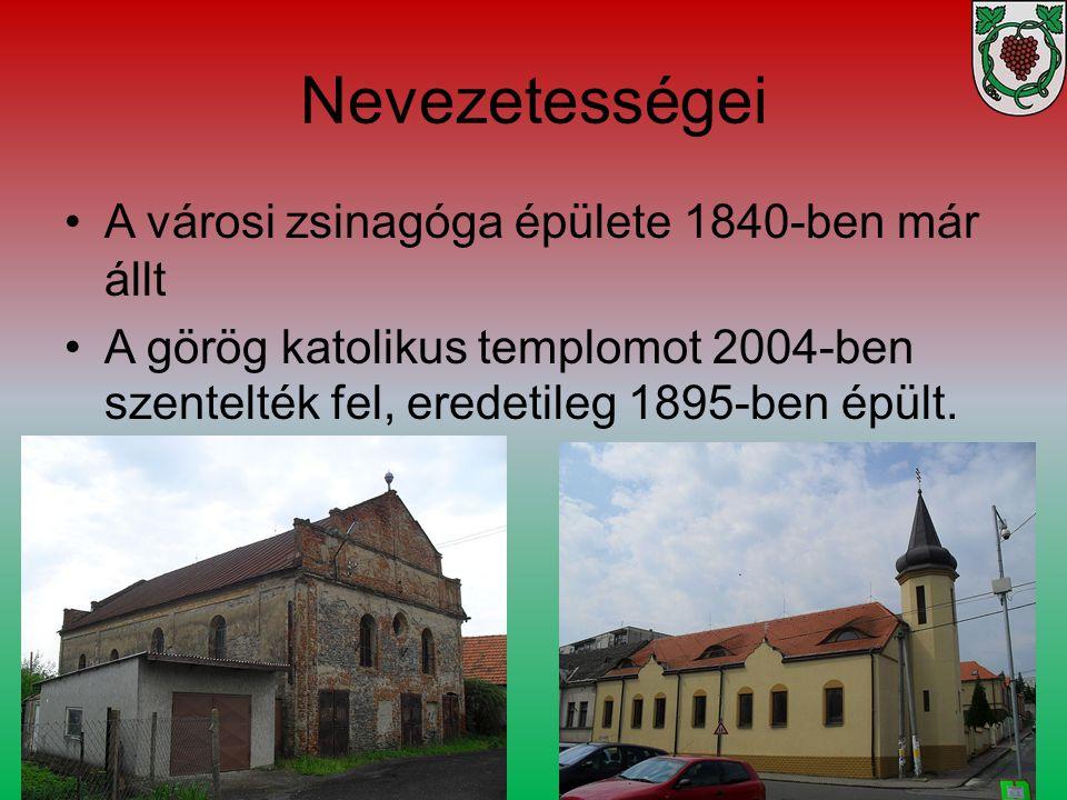 Nevezetességei A városi zsinagóga épülete 1840-ben már állt