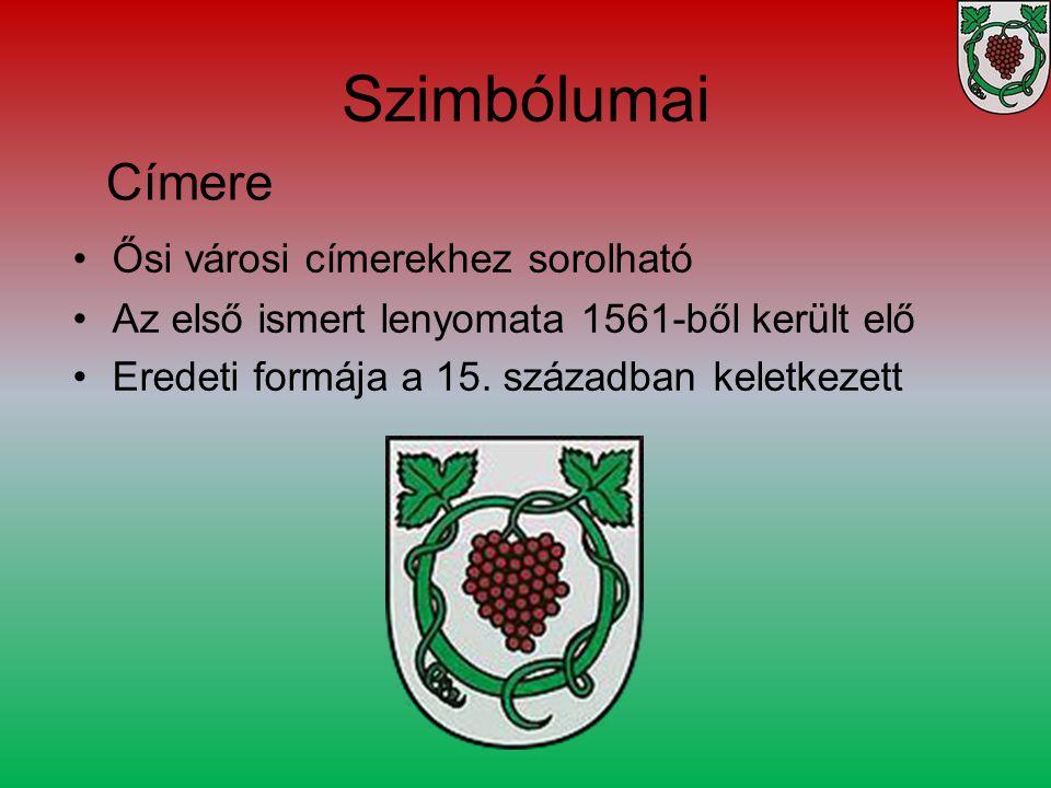 Szimbólumai Címere Ősi városi címerekhez sorolható