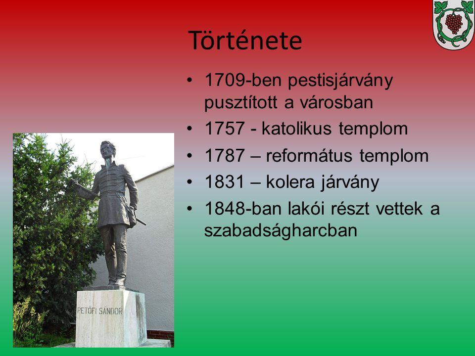 Története 1709-ben pestisjárvány pusztított a városban