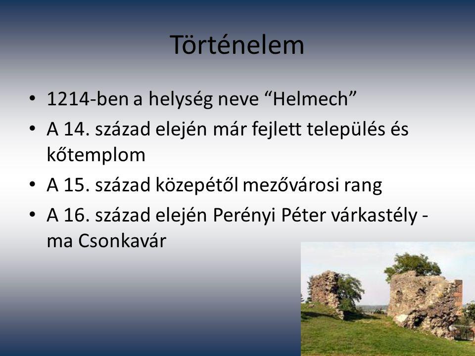 Történelem 1214-ben a helység neve Helmech