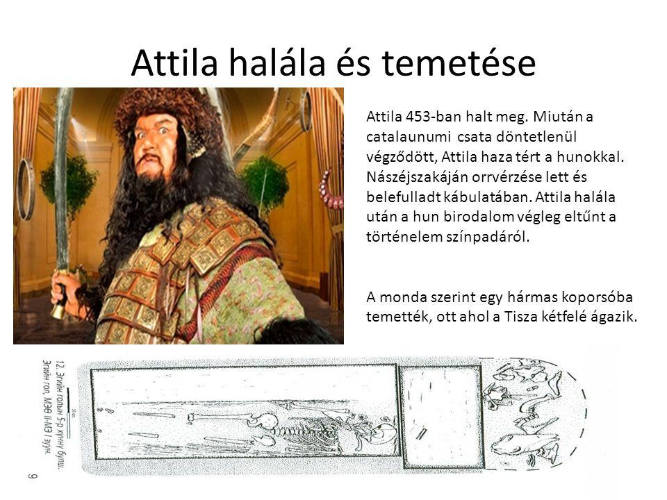 Attila halála és temetése