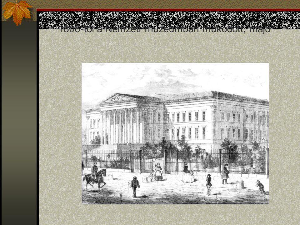 1808-tól a Nemzeti múzeumban működött, majd